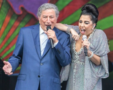 Tony Bennet And Lady Gaga, Jazz Fest 2015, Photo by Willow Haley, OffBeat Magazine, June 2015
