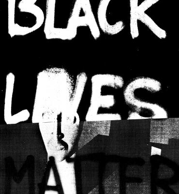 Black Lives Matter #2 by Adam Pendleton, 2015. Photo via CAC's website.