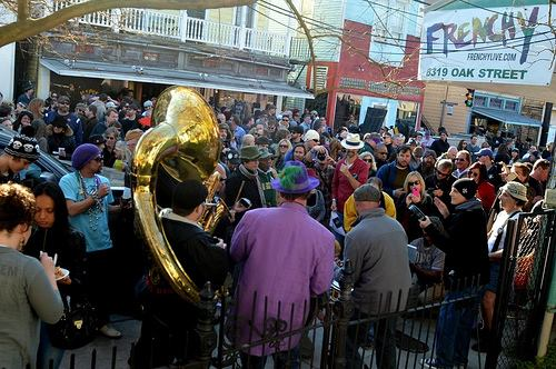 Second line and party for Jamie Galloway on March 3, 2013.