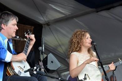 Béla Fleck & Abigail Washburn at Jazz Fest. Photo by Kim Welsh.
