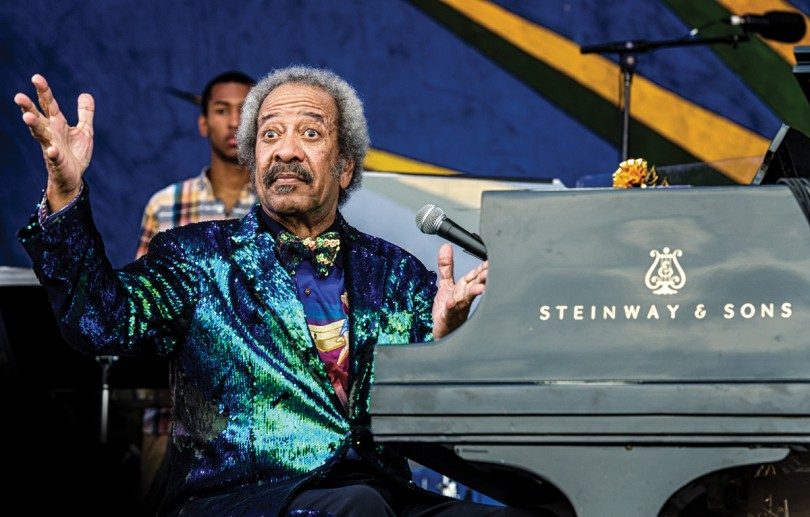 Allen Toussaint performs at what turned out to be his last Jazz Fest, in 2015 on the Gentilly Stage. Photo by Golden G. Richard III.
