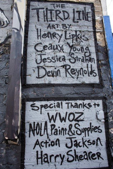 Credits on the mural. Photo by Noé Cugny