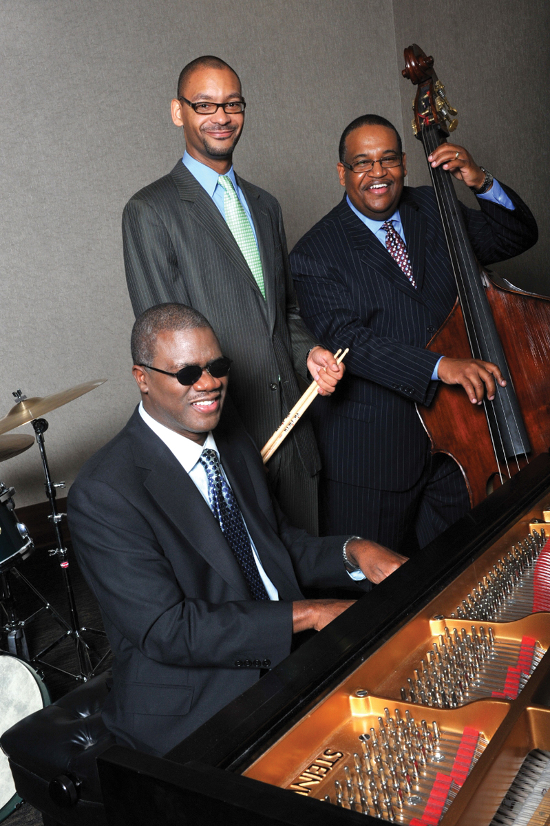 Marcus Roberts (piano) with his Trio, including Jason Marsalis and Rodney Jordan.