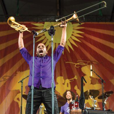 Trombone Shorty. Photo by Erika Goldring.