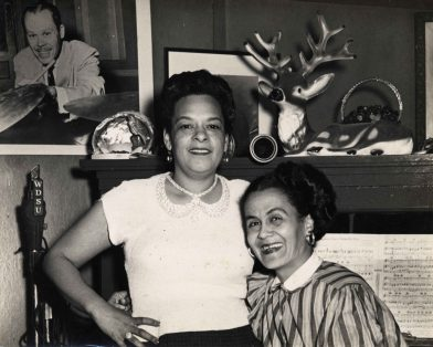 Blue Lu Barker and Jeanette Kimball.