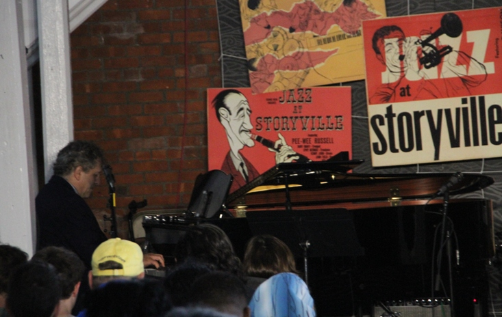 Pianist David Torkanowsky at the Newport Jazz Festival's Storyville venue, named after festival founding producer George Wein's Boston jazz club in the 1950s.