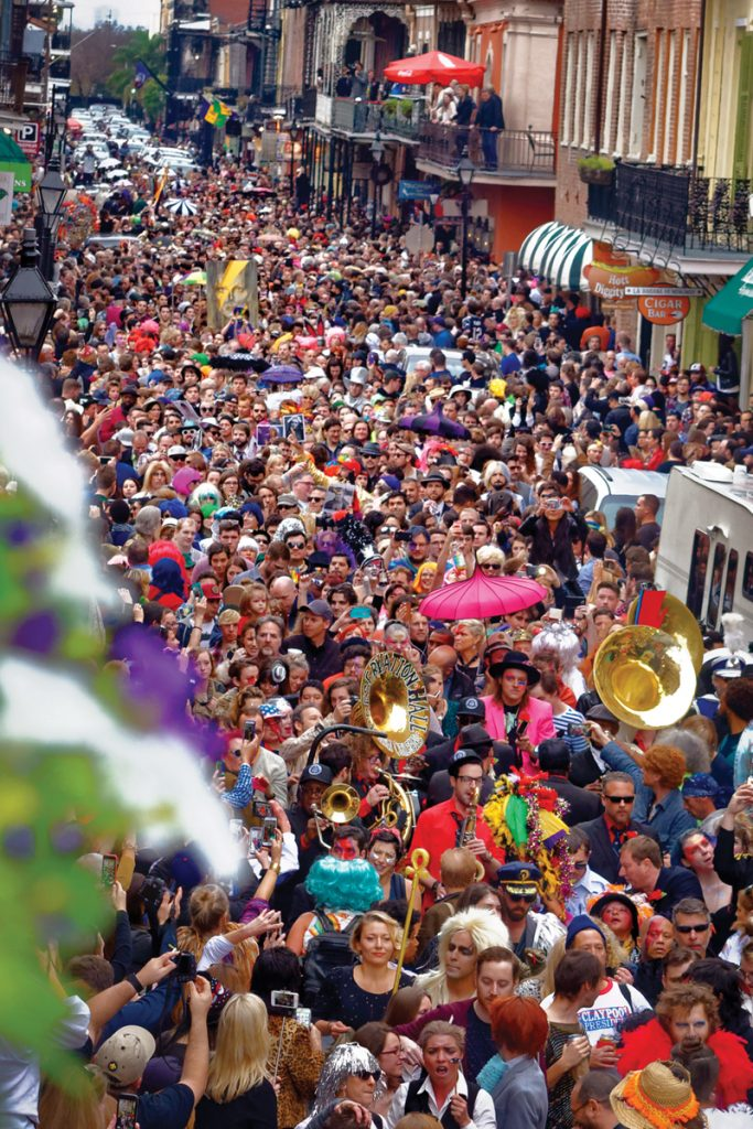 Arcade Fire and the PHJB lead a parade for David Bowie through the French Quarter in January 2016. Photo by Jerry Moran.