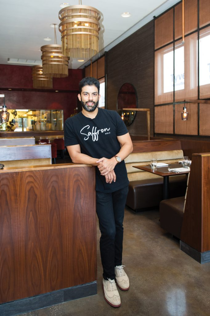 A new generation of Indian food in New Orleans; GM Ashwin Vilkhu of Saffron. Photo by Elsa Hahne.