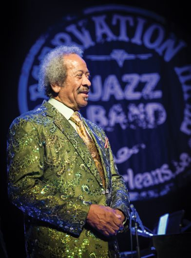 Allen Toussaint performs at the Preservation Hall Jazz Band Ball at the Civic in New Orleans, LA. Photo: Golden G Richard III