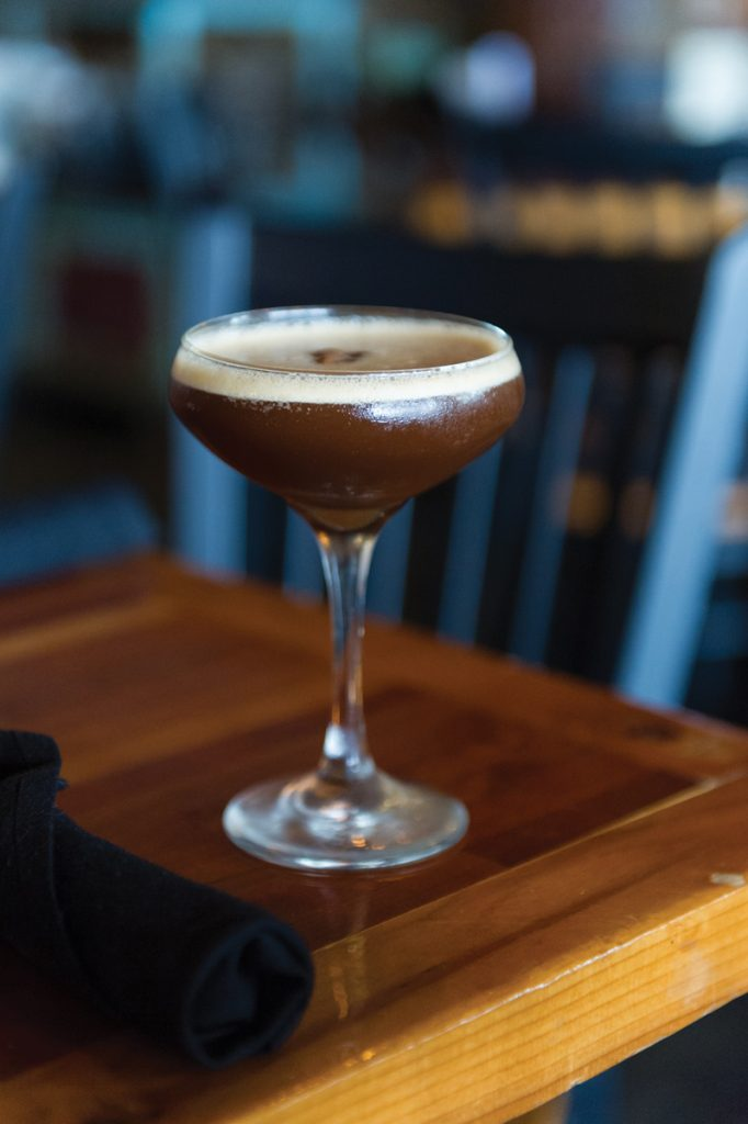 Do Whatcha Wanna 1 1/2 ounces espresso 1 1/2 ounces Cathead Pecan Vodka 1/2 ounce Bénédictine liqueur 1/4 ounce Demerara simple syrup 2 dashes Bitter Truth Chocolate Bitters Shake with ice until nice and frothy. Strain into a chilled glass.
