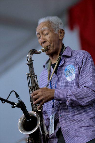 Kidd Jordan performs at Jazz Fest 2018. Photo by Noé Cugny