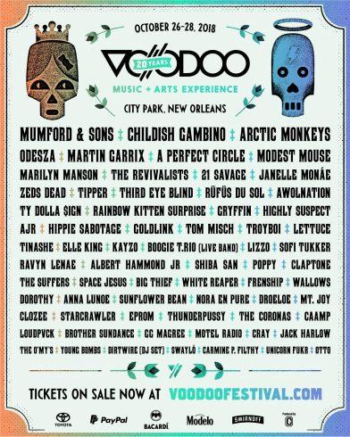 voodoo fest 2018