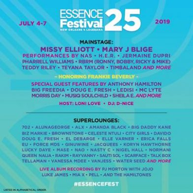 Essence Festival 2020 Performers.2020 Essence Festival Performers Festival 2020