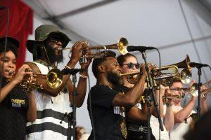 Trumpet Mafia. Photo by Kim Welsh