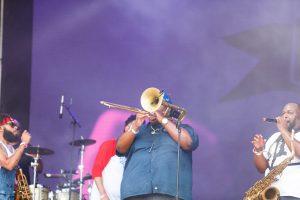 Paul Robertson of The Soul Rebels at Bonnaroo 2019