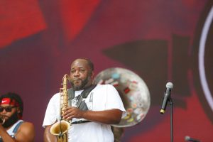 Erion Williams of The Soul Rebels at Bonnaroo 2019