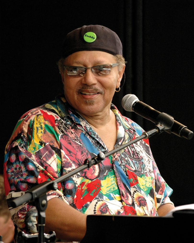 NEW ORLEANS, LA-MAY 2: Art Neville performs a rare solo set at the New Orleans Jazz & Heritage Festival on May 2, 2008. (Phote by Clayton Call/Redferns)